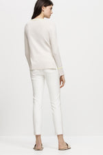Jeans Luisa Cerano Color Block Jean Pants White Beige