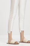 Luisa Cerano Color Block Jean Pants White Beige