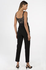 Ariella Jumpsuit Lace Bodice and Belt
