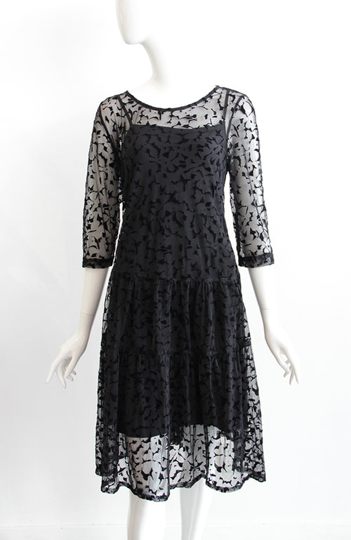 ALEMBIKA A-Line Lace Dress with Underslip