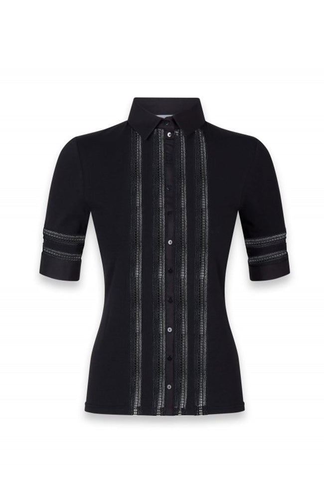 Anne Fontaine Marika Blouse with Inserts Black
