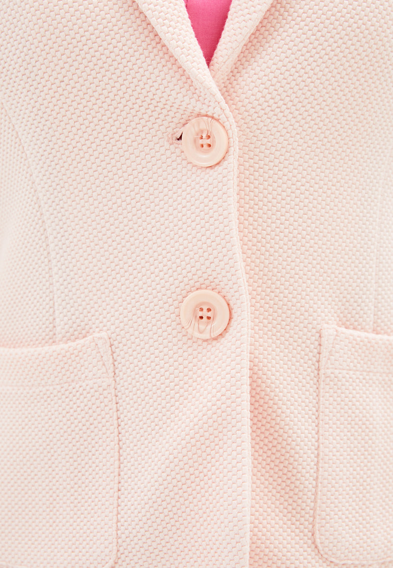 Betty Barclay Stretch Knit Blazer Pink