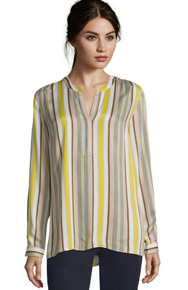 Betty Barclay Long Sleeve Striped Blouse Camel Yellow