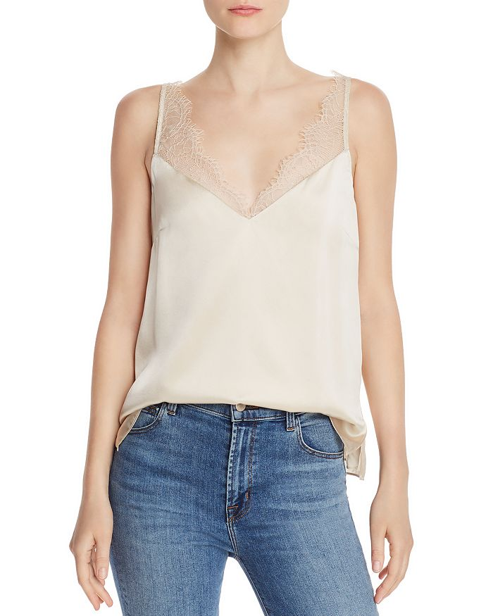 CAMI NYC V-Neck Camisole with Lace. Cami avec dentelle
