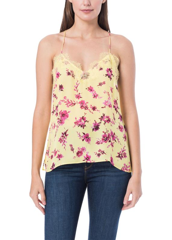 CAMI NYC Racer Georgette Camisole with Lace