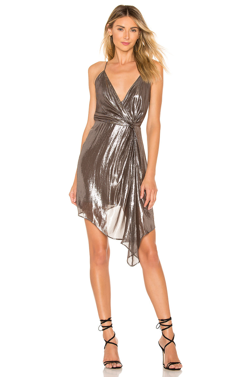 CAMI NYC Lame Dress Robe