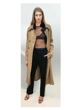 SEVENTY Double Breasted Trench Coat Beige