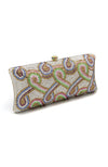 Crystal Embellished Swirl Clutch