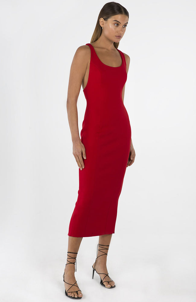 Draya Racer Back Midi Dress