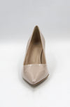 "DEE KELLER PAT 2.5"" Patent Leather Kitty Heel Pump Nude. Pompe en cuir verni"