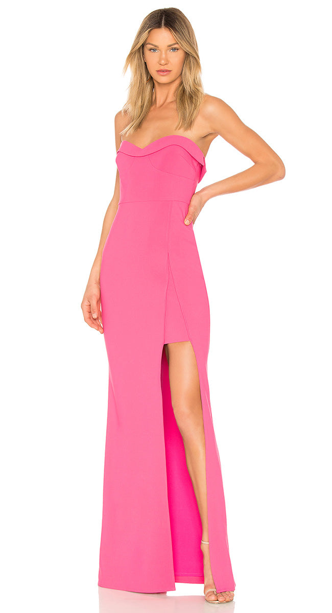 Gown Strapless Pink Robe