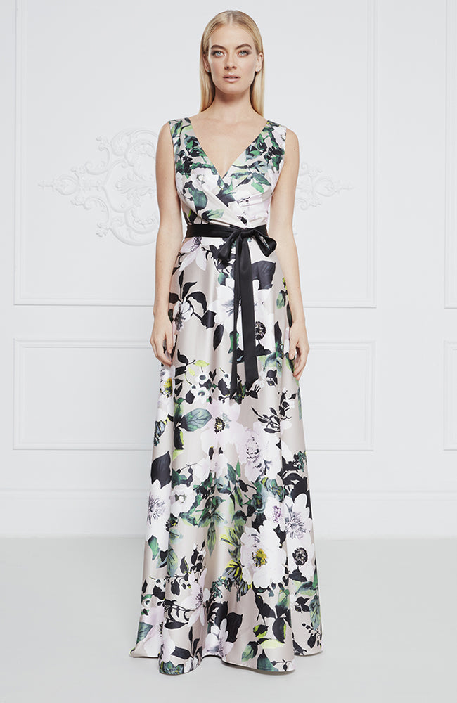 Frascara Floral Gown with Tie