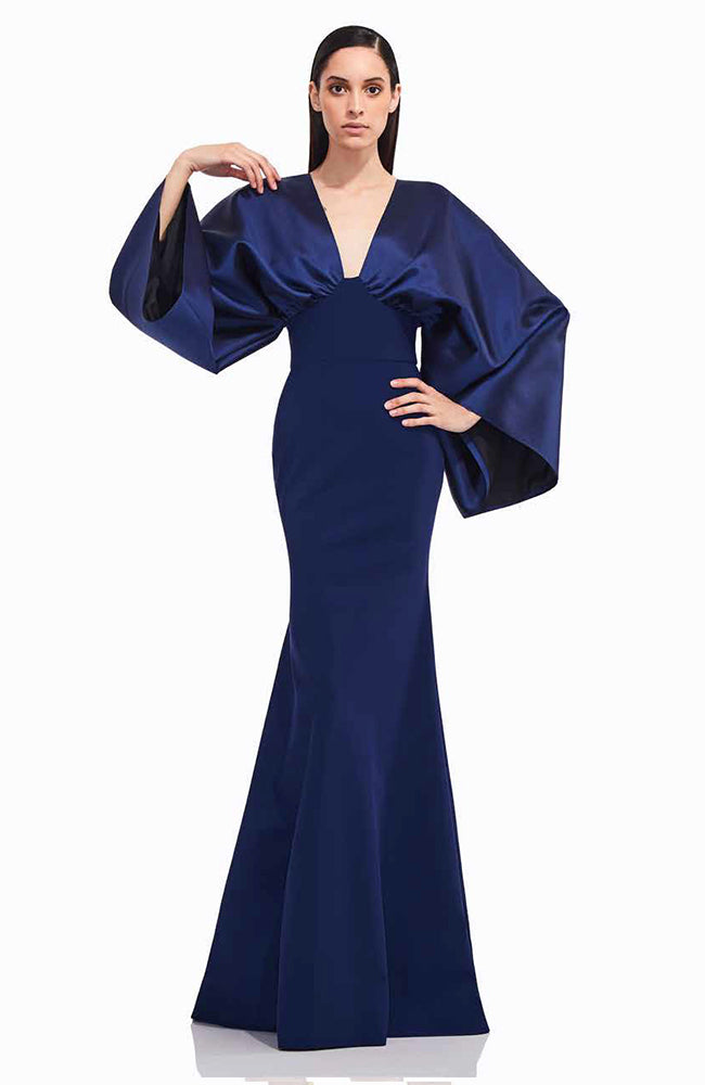 Greta Constantine Leonita Bell Sleeves Gown