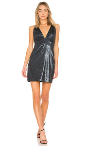 Halston Sleeveless Sequin Dress. Robe sequin - Navy Blue