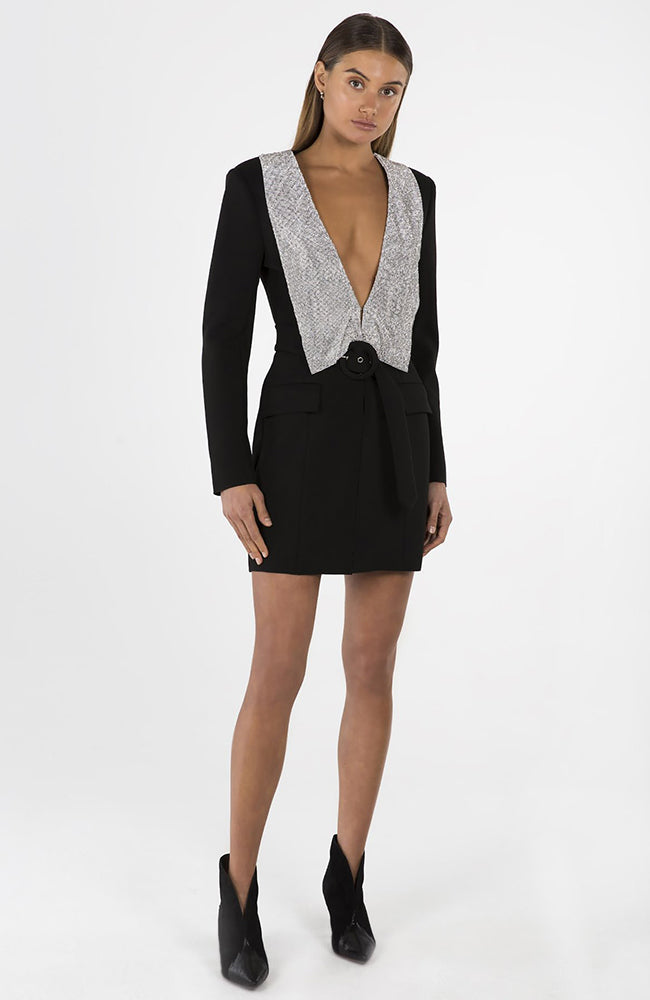 Misha Black Blazer Mini Dress