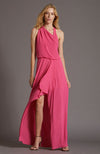 HALSTON Azalea Asymmetric Draped Gown