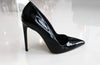 DEE KELLER PAIGE Patent Leather Pump 90MM Black chaussure en cuir verni noir