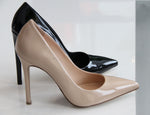 "DEE KELLER PAIGE Patent Leather Pump 3"" Black chaussure en cuir verni noir"