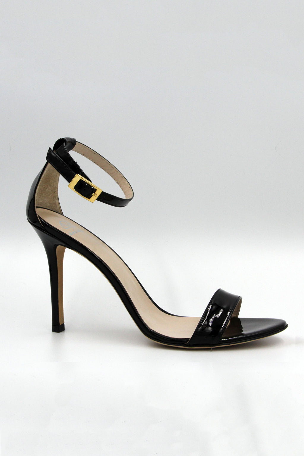 "DEE KELLER 3.5""/90MM HEEL Scheffy Single Band Patent Leather Shoe"