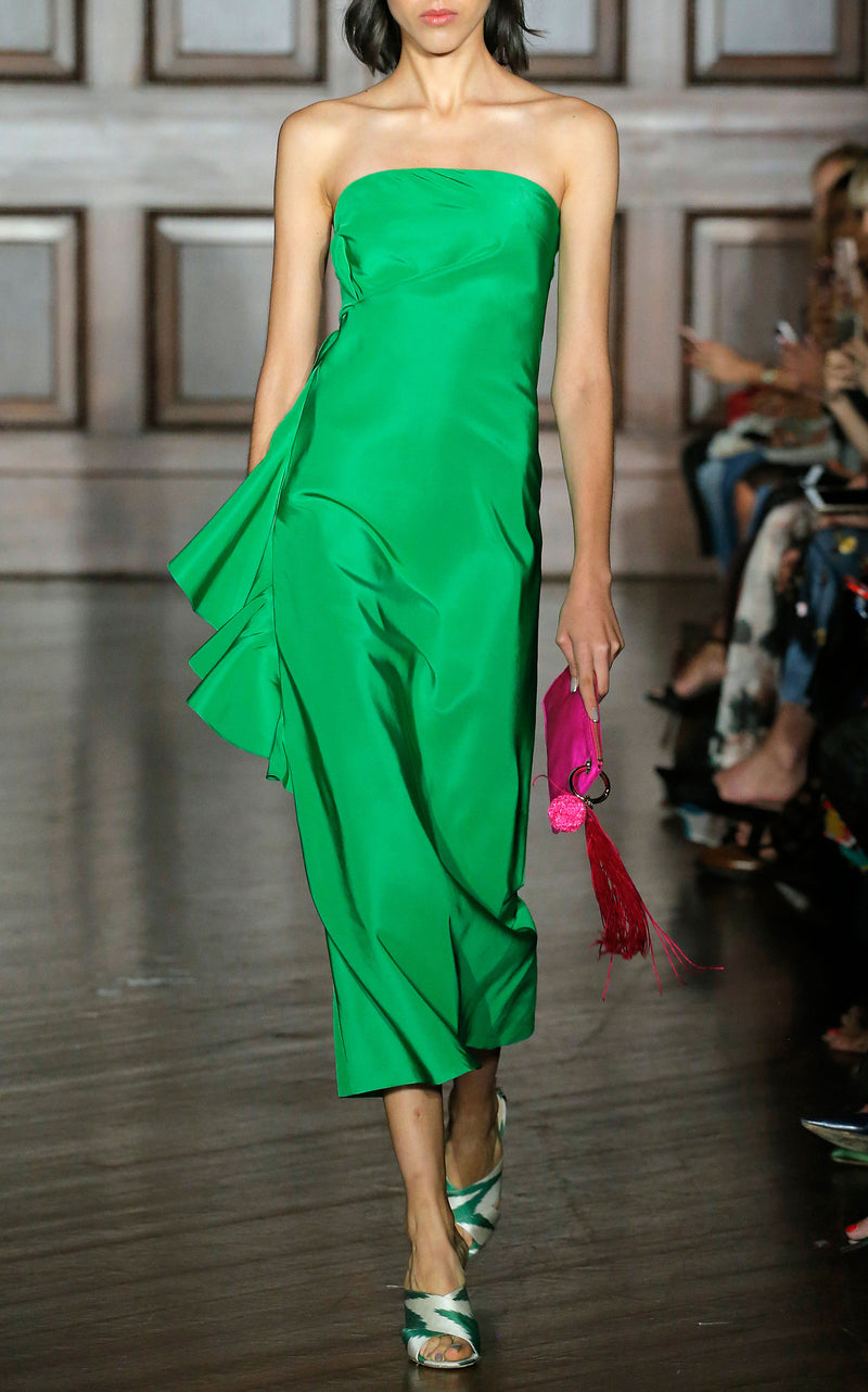 SACHIN & BABI Strapless Emerald Green Dress Robe