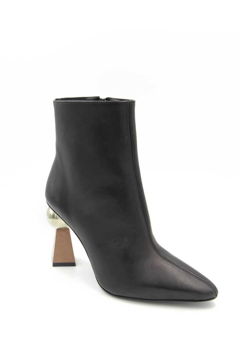Grazia Leather Boot with Ball Heel Boutillon