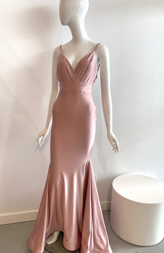 Jessica Angel Crossover Front Fitted Gown Rosy Cheeks