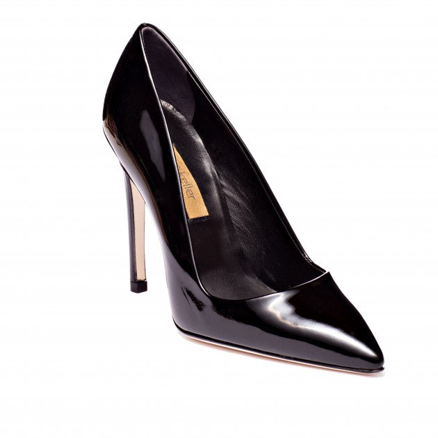 DEE KELLER Patent Leather Pump Black Pompe en cuir verni noir