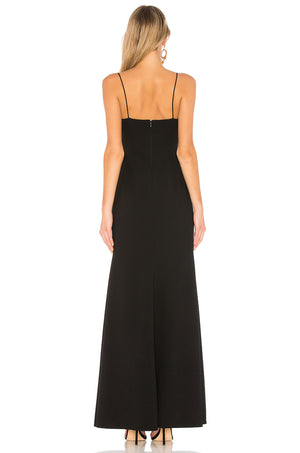 JILL JILL STUART High-Slit Gown in Black Robe Longue Robe de Bal