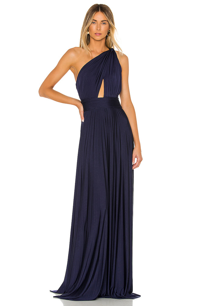 JILL JILL STUART One Shoulder Pleated Knit Gown  Robe de soirée