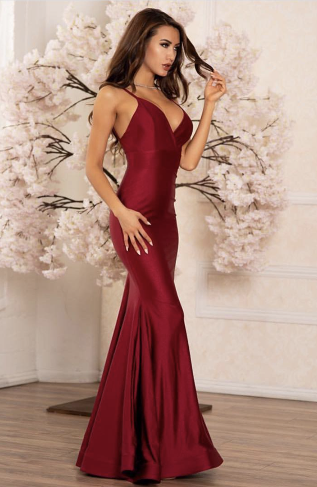 Jessica Angel Spaghetti Cross Over Front Gown