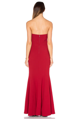 Maid of honour dress red gown. Robe Fille dhoneur en rouge