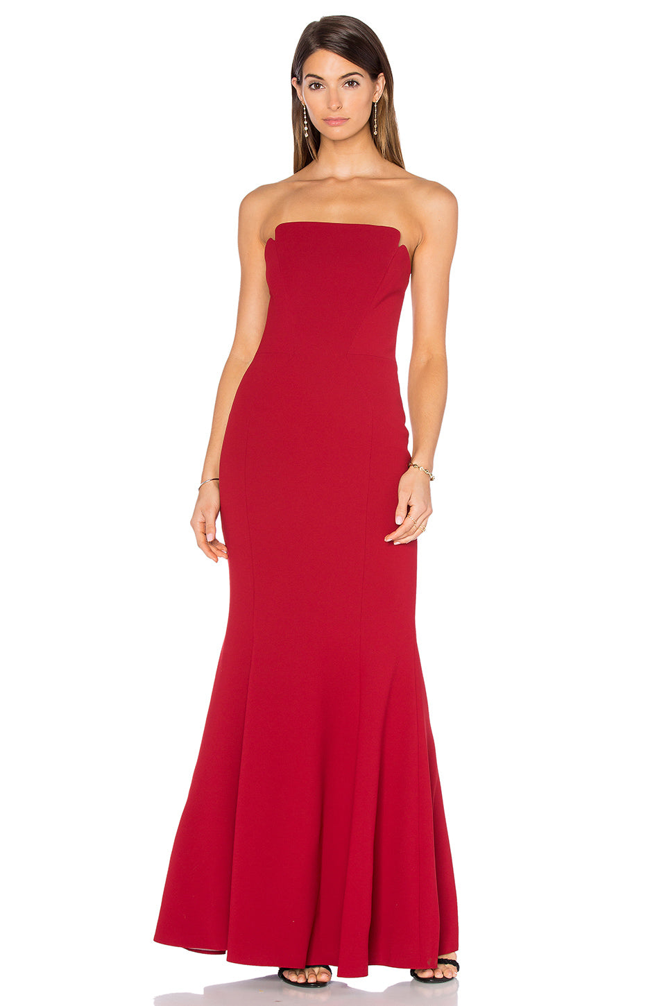 Red gown dress Jill Jill Stuart Robe de soirée rouge