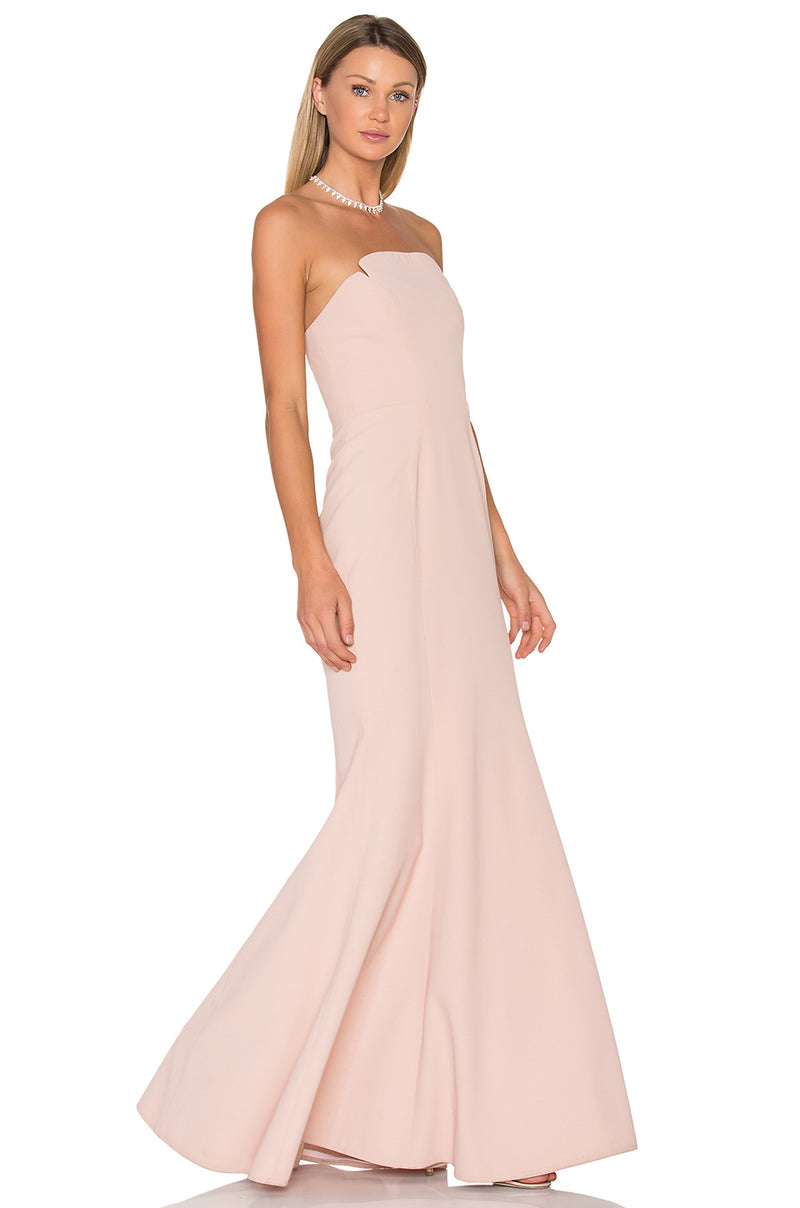 JILL JILL STUART Strapless Harlow Mermaid Gown Pink. Robe longue sirène rose