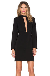 JILL JILL STUART Flared Sleeve Black Dress Robe en noire