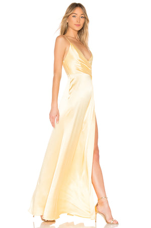 Jill Jill Stuart Gown Yellow Robe longue Jaune