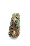 Jungle Scene Crystal Embellished Clutch Pochette