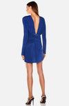 Long Sleeve Mini Dress with Shirring. Robe avec plissage