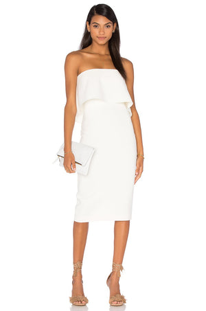 Driggs white dress robe blanc