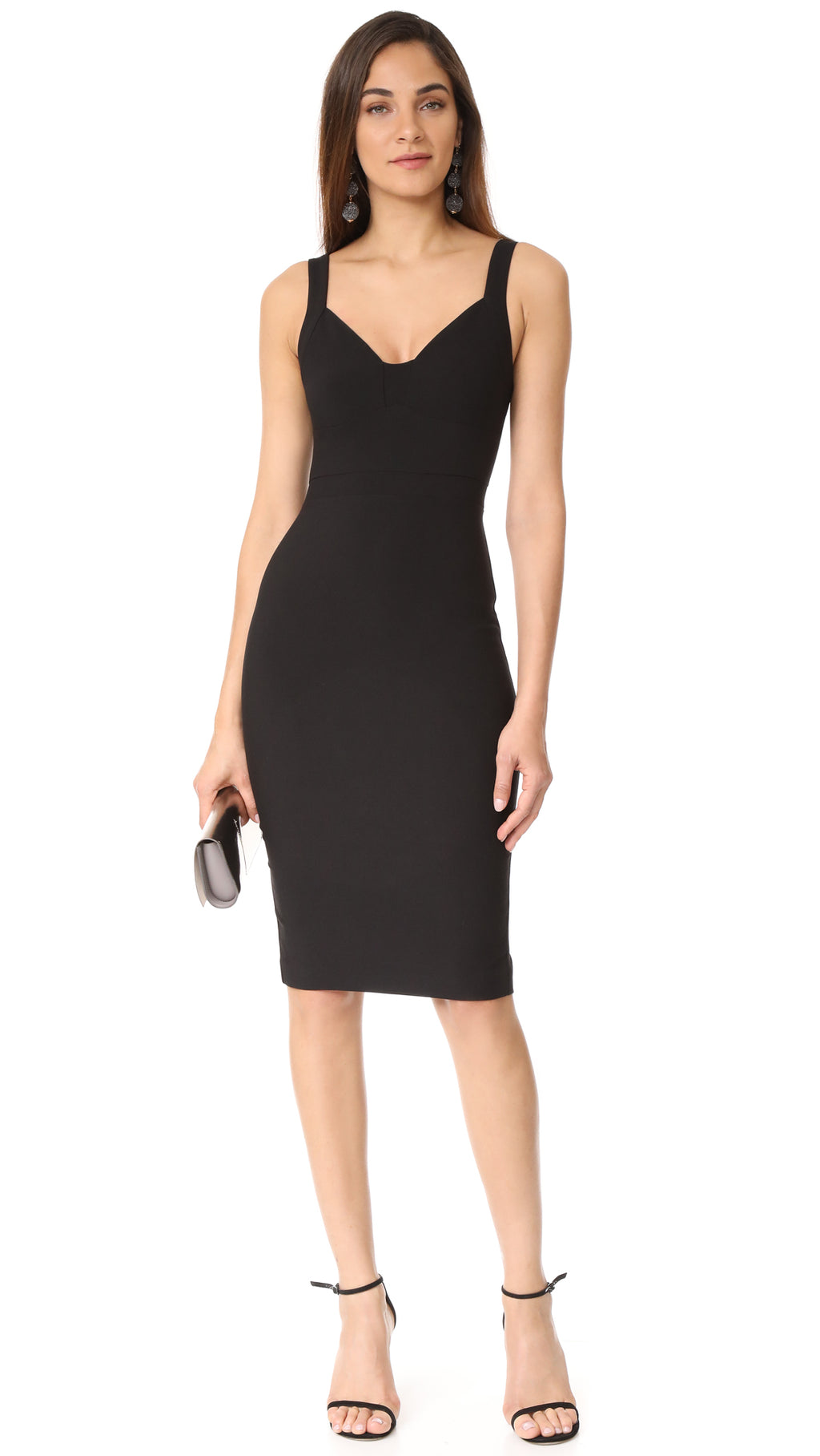 Agoura Black Dress- V neck . Robe Noire Agoura