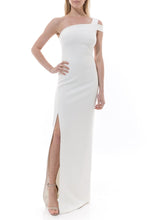 LIKELY - Maxson Gown in White. Robe longue Maxson en blanc