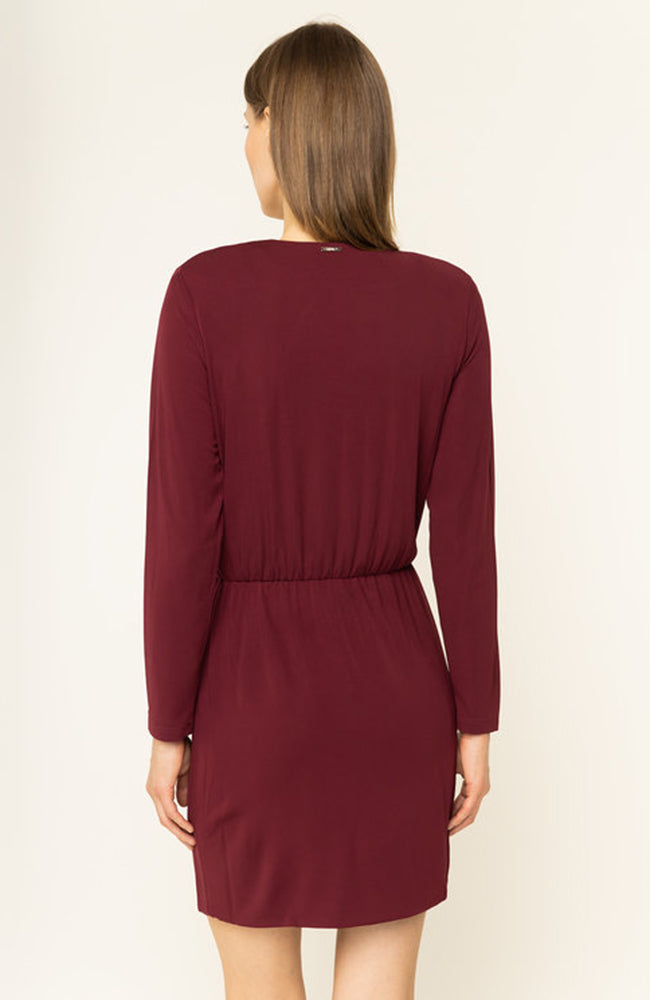 Liu Jo Long Sleeve Wrap Dress with Side Bow