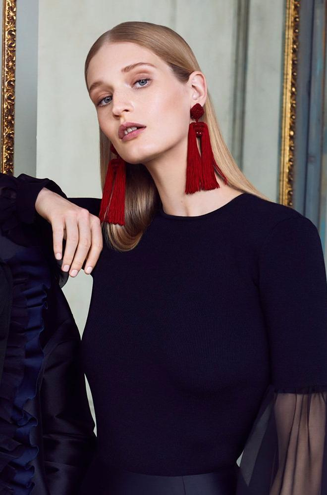 Sachin & Babi Dupio Red Tassel Earrings Pendants rouge
