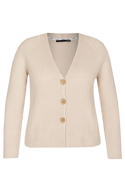 Le Comte V-Neck Long Sleeve Cardigan with 3 buttons