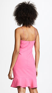 LIKELY Banks Ruffle Mini Dress Pink. Mini Robe rose