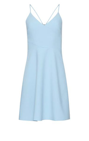 LIKELY Fitted Midi Dress with thin straps. Robe midi adjustée