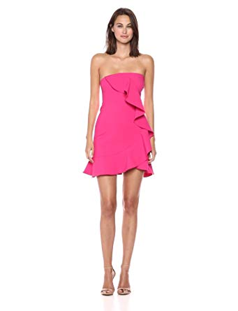 LIKELY Robe Monetta dress Strapless Ruffle Mini Dress. Mini robe sans bretelles à volants