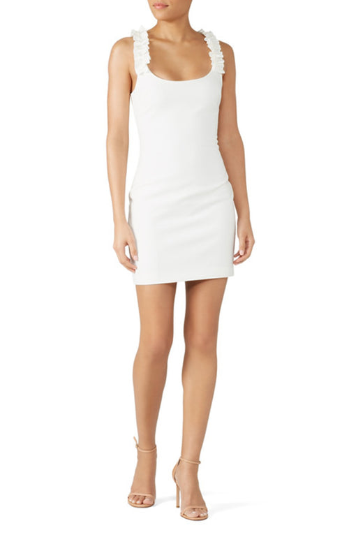 White Mini Cocktail Dress Eleana Likely Robe