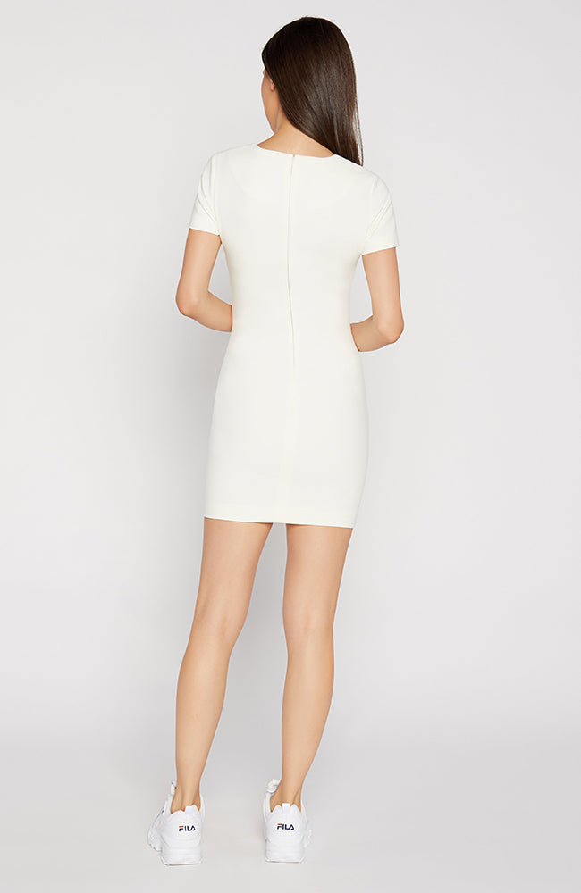 Manhattan Short Sleeve White Dress