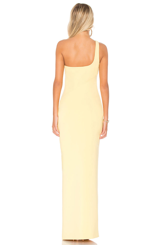 Likely Maxson One Shoulder Gown in Yellow