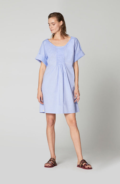 Manila Grace Off Shoulder Blue Dress Robe Bleu